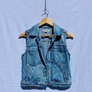 Madewell The Pocket Jean Denim Vest (Small)